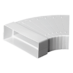 Monsoon Rectangular Ducting 204mm x 60mm Duct & Accessories, Adjustable-Horizontal-Bend