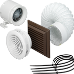 100mm Monsoon fan and Vent Light kits